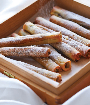 Chocolate Filo Cigars