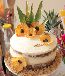 Pineapple Poppy Seed Cake