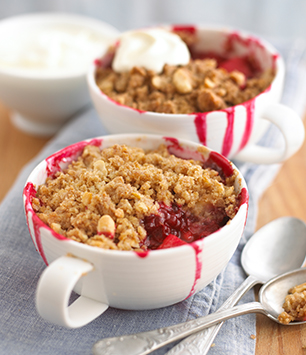 Mini Blackberry & Apple Crumbles