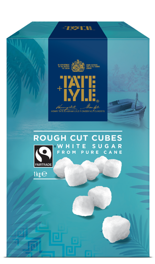 White Rough Cut Sugar Cubes
