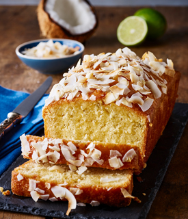 Coconut Lime and Rum Drizzle Cake