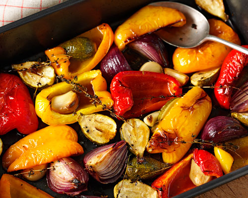 Sweet-Sour Roasted Mediterranean Vegetables