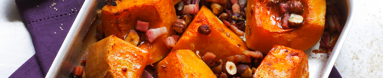 Sugar Roasted Squash with Bacon