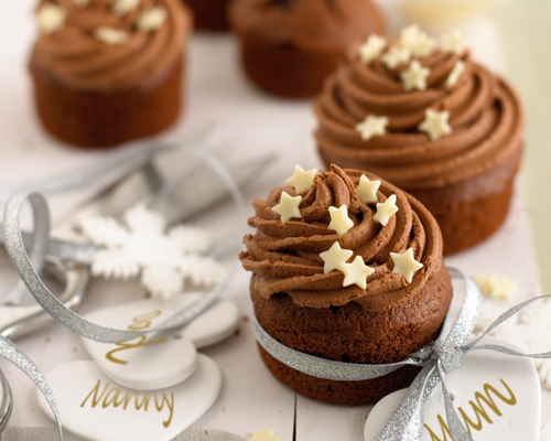 Mini Christmas Chocolate Cakes