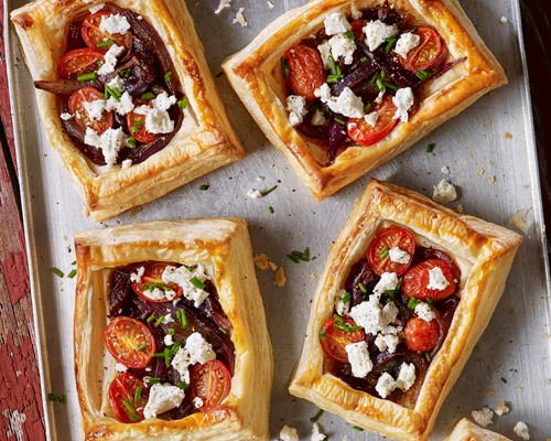 Feta, Red Onion & Cherry Tomato Tarts