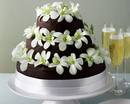 Chocolate Sachertorte Wedding Cake