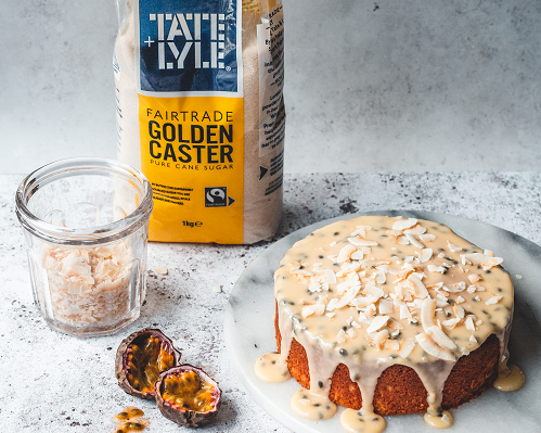 Passion Fruit and Coconut Cake