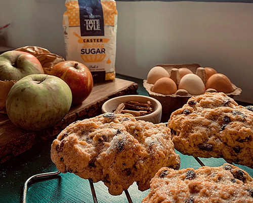 Apple & cinnamon spiced Rock Buns Recipe