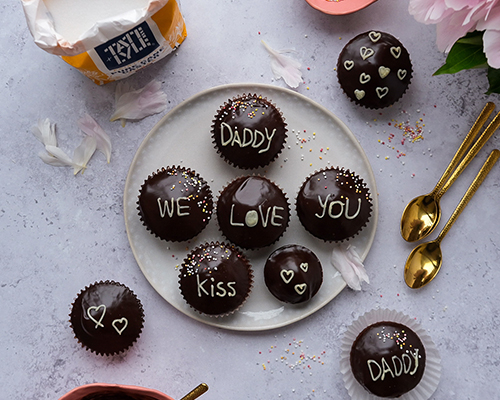 Triple Chocolate Cupcakes for Father's Day